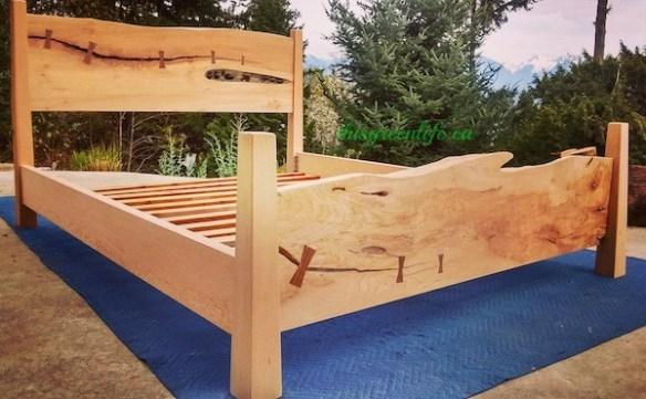 live edge maple bed