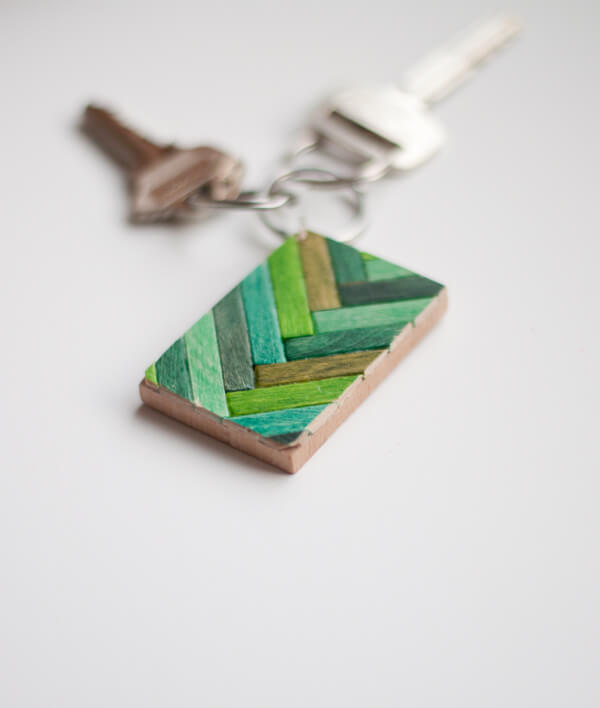 Wooden Key Chain 2a