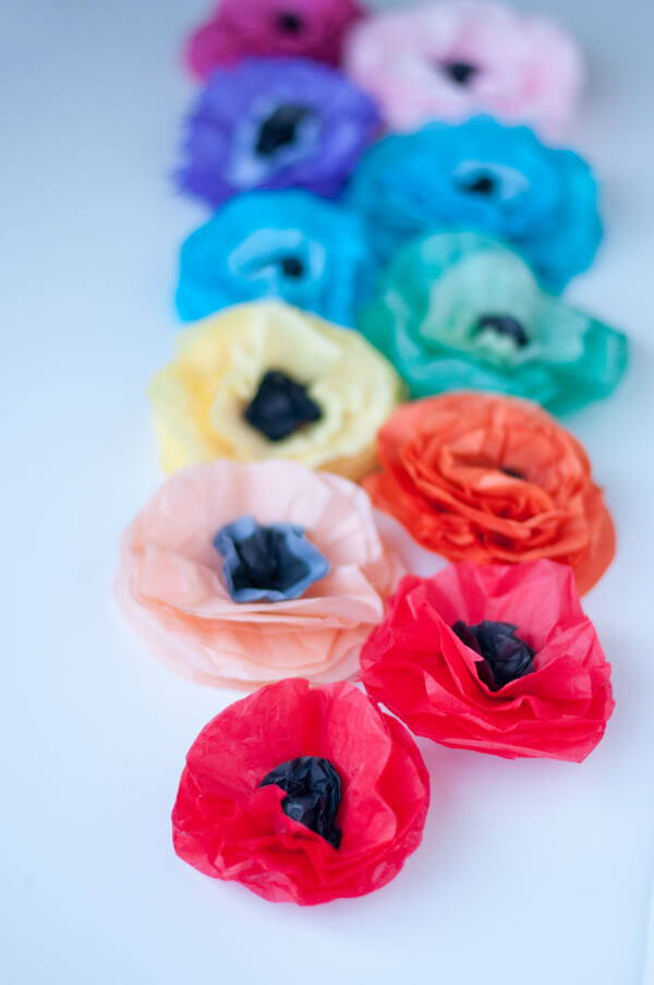 Tissue Flower Magnets 14
