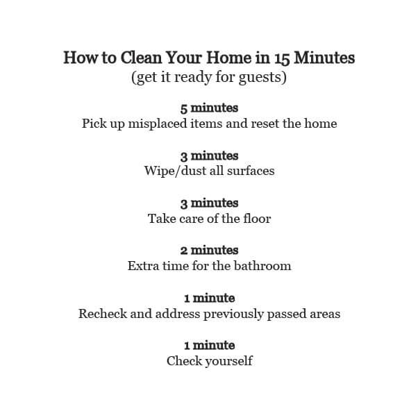 How To Clean Your Home In Minutes This Heart Of Mine