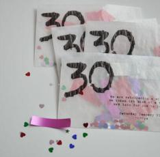 30th Birthday Confetti Filled Invites