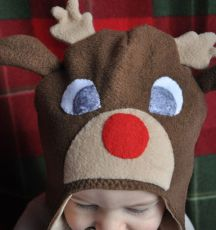 Fleece Reindeer Hat
