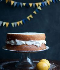 Lemon Cake with Vanilla Whipped Cream