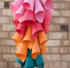 Paper Cone Hanging Centerpiece