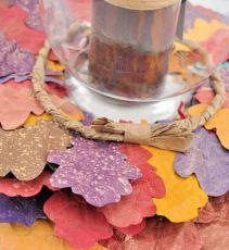 Paper Leaf Wreath