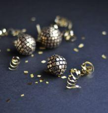 Polymer Clay Disco Ball Pendant