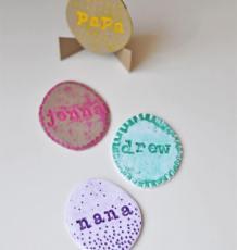 Polymer Clay Egg Name Card