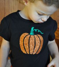 Pumpkin Freezer Paper T-shirt