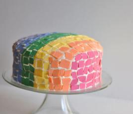Rainbow Mosaic Cake