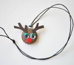 Reindeer Bottle Cap Necklace