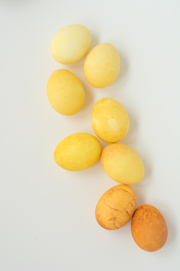 How to Naturally Dye Eggs Yellow Tones | this heart of mine