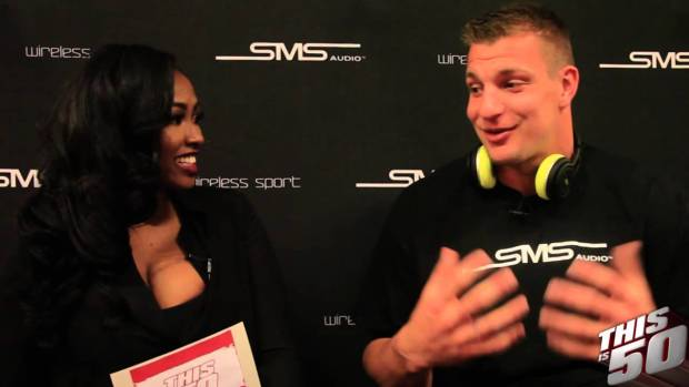 New England Patriots Rob Gronkowski Talks Winning SuperBowl 49; Partying; SMS Audio