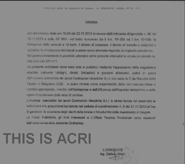 ORDINANZA REVOCA ACRI 660