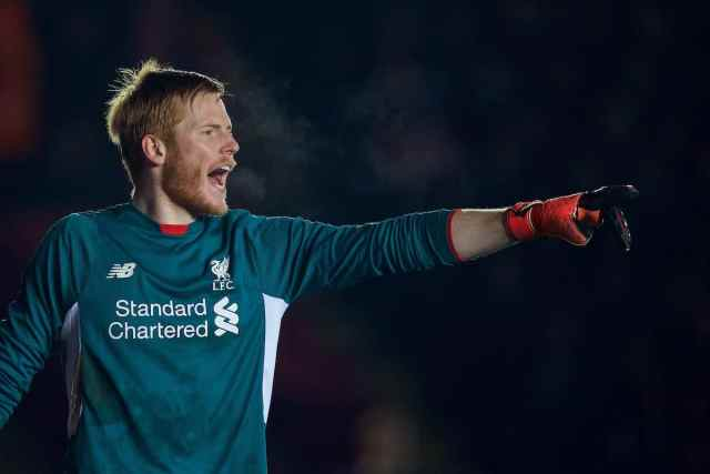 EXETER, ENGLAND - Friday, January 8, 2016: Liverpool's goalkeeper Adam Bogdan in action against Exeter City during the FA Cup 3rd Round match at St. James Park. (Pic by David Rawcliffe/Propaganda)