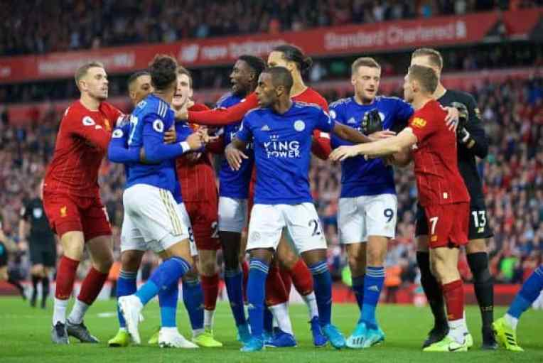 Image results for Liverpool vs Leicester city clash