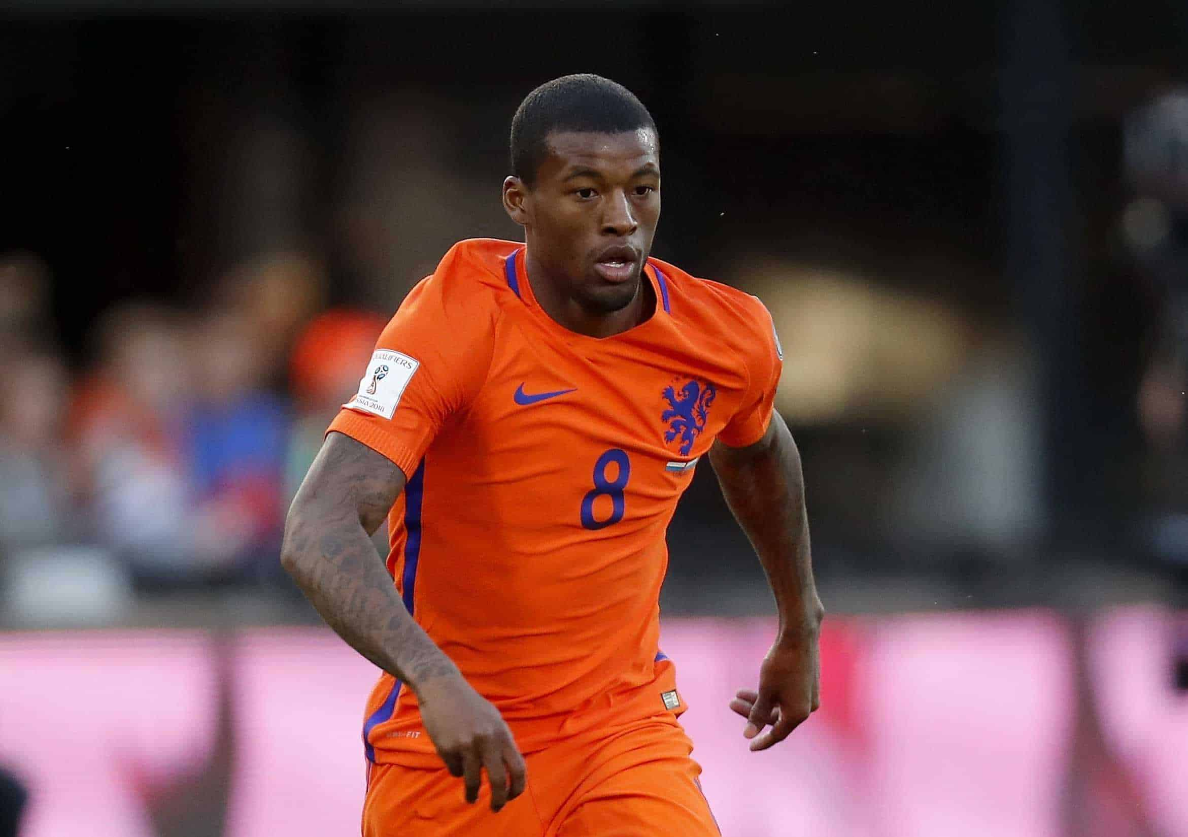 Georginio Wijnaldum of Holland during the FIFA World Cup 2018 qualifying match between The Netherlands and Luxembourg at the Kuip on June 9, 2017 in Rotterdam, The Netherlands