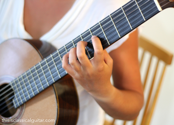 Left Hand Position - Classical Guitar