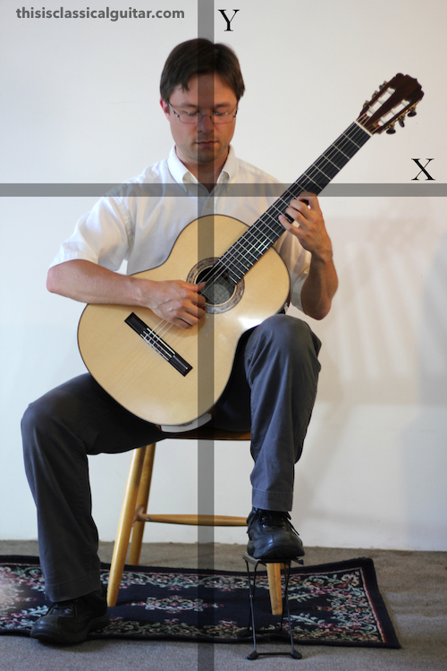 Lesson: Sitting Position - Classical Guitar - Diagram