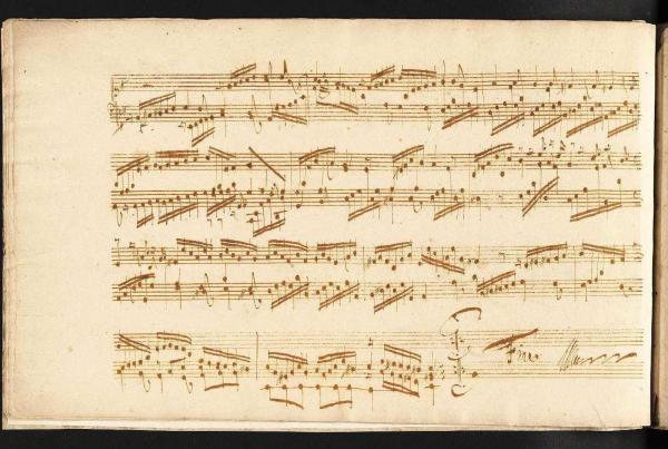 BWV 996 E minor suite, last page, showing impossible passages