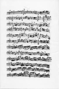 Cello Suite V, beautifully copied by Anna Magdalena Bach