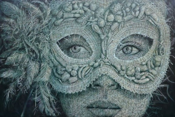The Woven Oil Paintings of Alexi Torres painting art