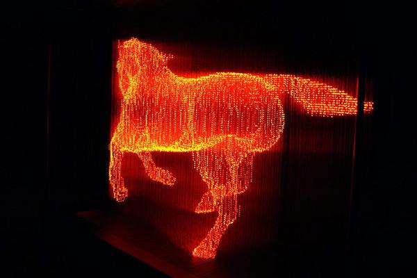 Esculturas de luz por Makoto Tojiki luz múltiplos escultura