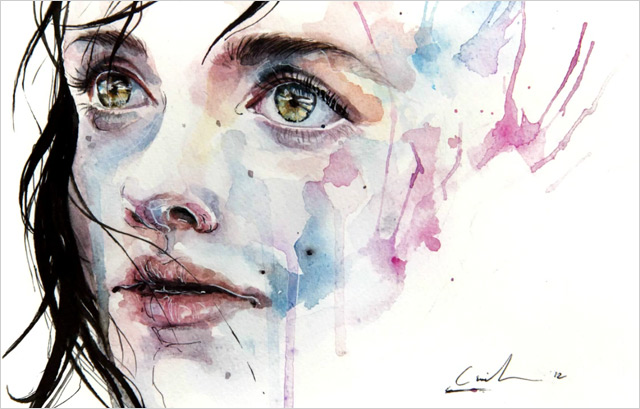 A Stunning Watercolor Speed Painting by Agnes Cecile watercolor video painting art