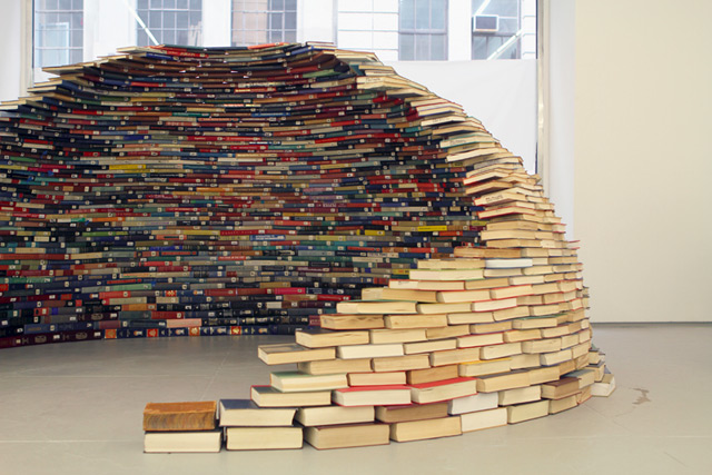 Book Igloo sculpture installation books art