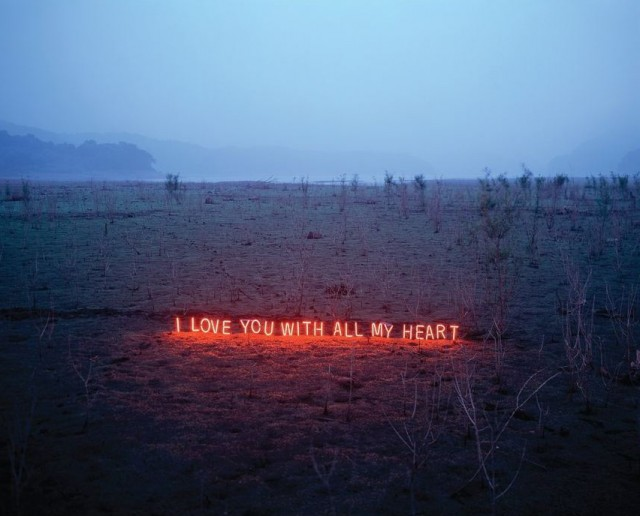 Neon Text Installations by Lee Jung typography light installation