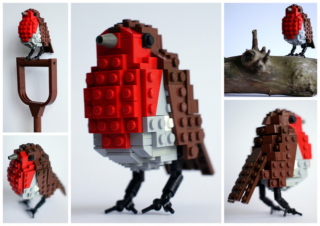 British Birds Made of LEGO Lego design birds