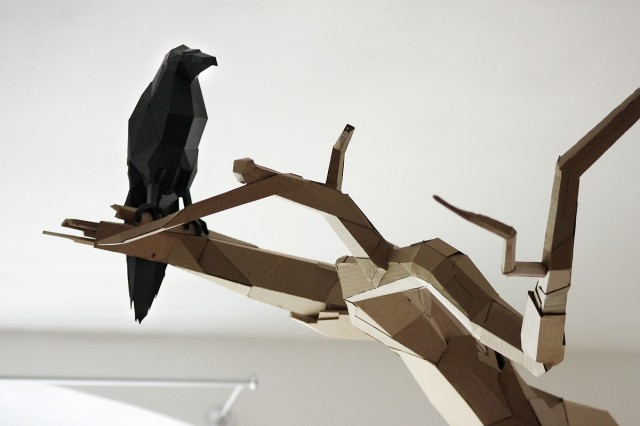 Cardboard Sculptures by Bartek Elsner sculpture installation cardboard