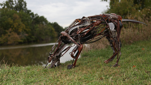 Animal Sculptures Made from Reclaimed Household Objects sculptures recycling animals