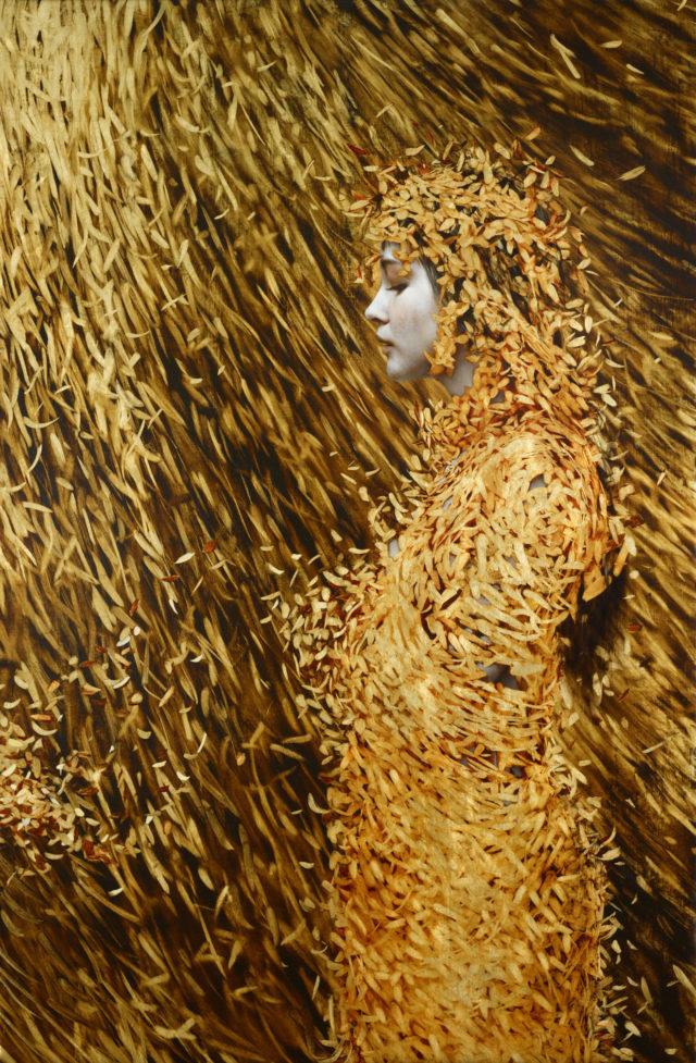 Leaf Paintings by Brad Kunkle painting