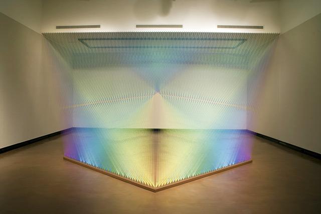 Colored Thread Installations by Gabriel Dawe thread installation color