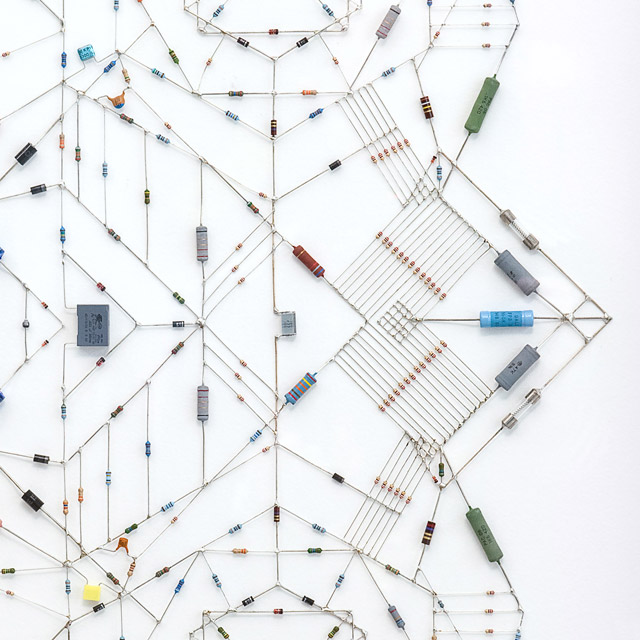 Technological Mandalas Made from Soldered Computer and Radio Components mandala computers