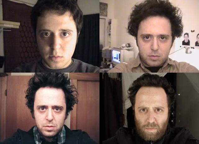 Noah Kalina Updates Self Portrait Video to Include 12.5 Years of Daily Portraits (4,514 Photos!) video art timelapse portraits