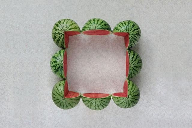 The Geometric Food Art of Sakir Gökçebag  vegetables geometry fruit food