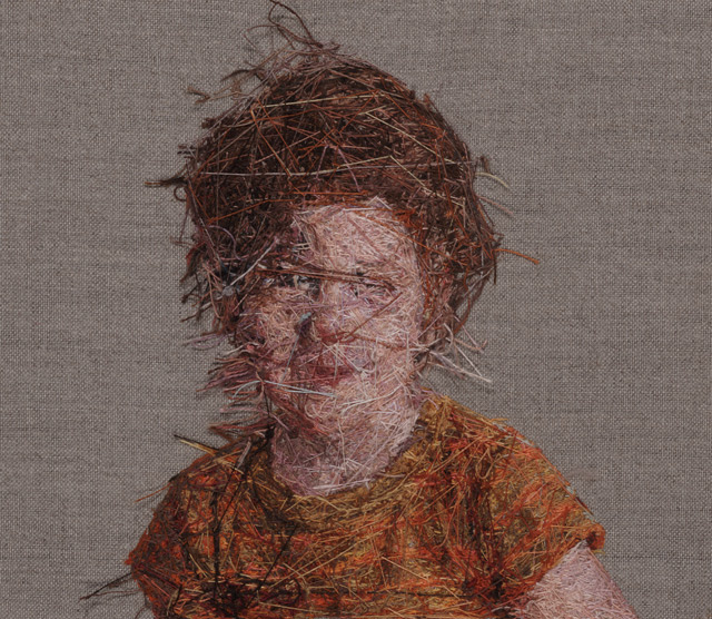 New Photorealistic Portraits Hand Embroidered by Cayce Zavaglia portraits embroidery