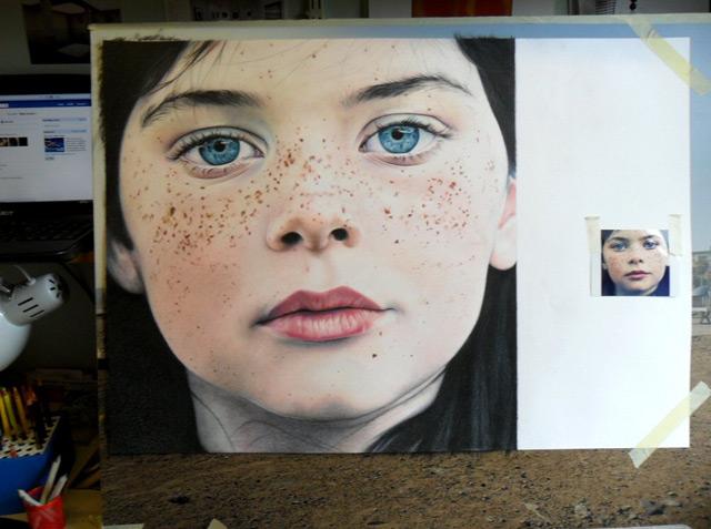 Retrato Lápis Cor incrível por Amy Robins desenho realismo retratos foto
