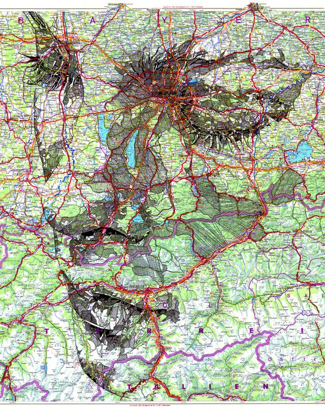 Portraits Drawn on Maps by Ed Fairburn portraits maps illustration