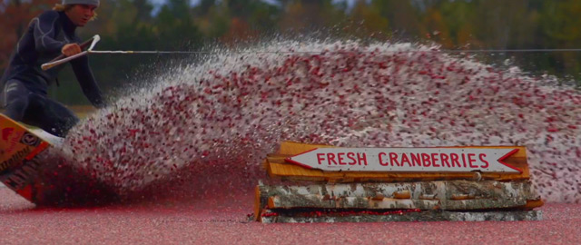 Cranberry Bog Wakeboarding surfing stunts sports fruit