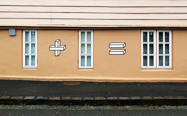 Sum Times: Clever Mathematical Street Art from Aakash Nihalani windows street art math doors