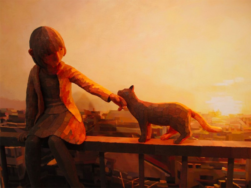 Artist Shintaro Ohata Seamlessly Blends Sculpture and Canvas to Create 3D Paintings sculpture painting illusion