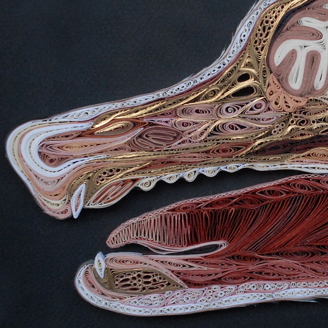 New Quilled Paper Anatomy by Lisa Nilsson quilling paper dogs anatomy