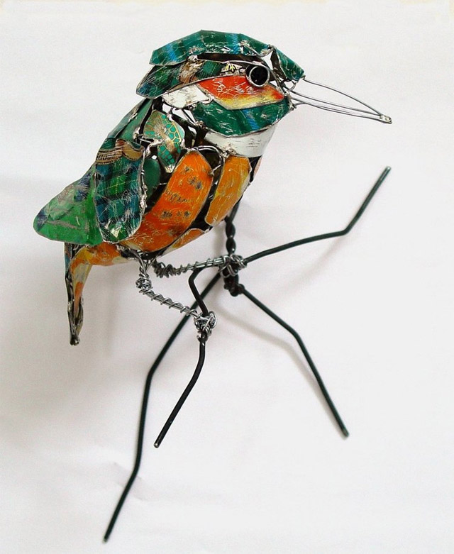 Birds Made from Recycled Metal Scraps | These Wooden Ideas