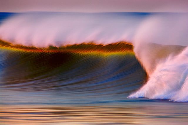 Photographer David Orias Makes the Pacific Ocean Look like Rainbows and Gold waves ocean California