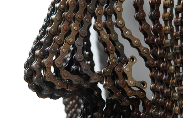 New Bicycle Chain Sculptures by Young Deok Seo sculpture chains bicycles