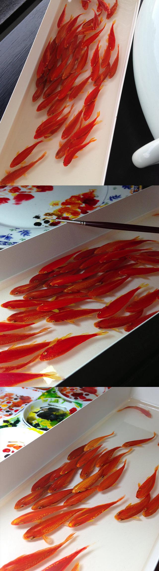 Three Dimensional Resin Paintings by Keng Lye