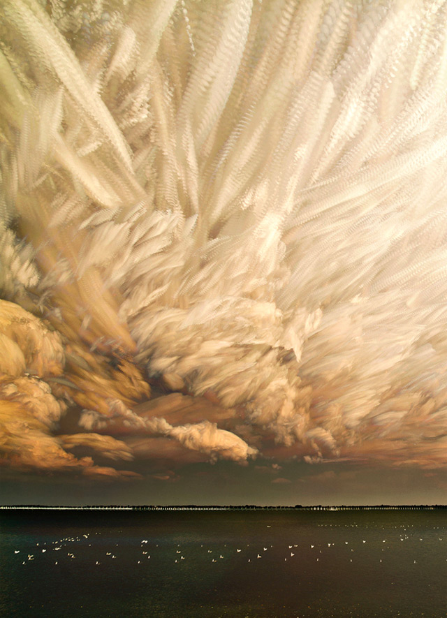 Smeared Skies Made from Hundreds of Stacked Photographs by Matt Molloy sunset landscapes clouds Canada