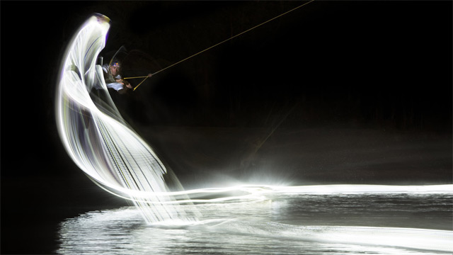 Light Wakeboarding Photographed by Patrick Rochon wakeboarding stunts light